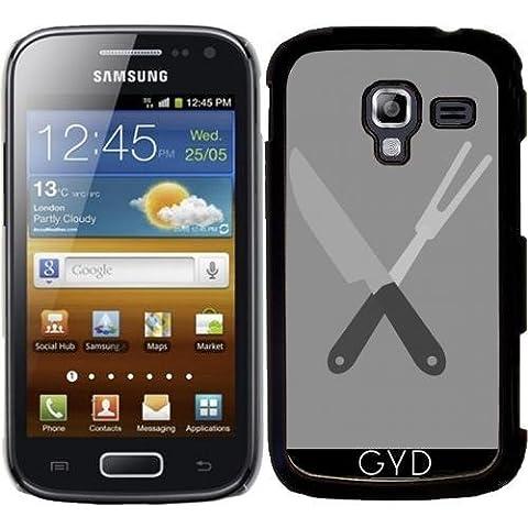 Funda para Samsung Galaxy Ace 2 (GT-I8160) - Cuchillo Y Tenedor by ilovecotton