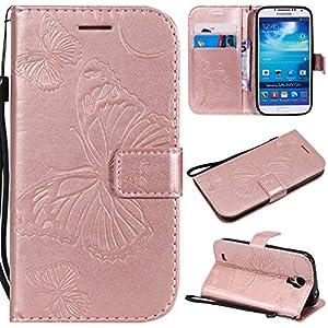 BoxTii Galaxy S4 Lederhülle, Kratzfeste Schutzhülle [mit Frei Panzerglas Displayschutzfolie] Karte Halter Hülle Etui für Samsung Galaxy S4