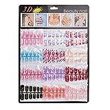 Ouneed Fashion Women 144pcs Mixed Set False Nail Tips Artificial Fake Nails Art Acrylic Manicure Gel