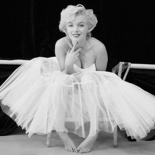 PopArtUK - Stampa su Tela di Marilyn Monroe, 40 x 40 cm, Colore Bianco/Nero