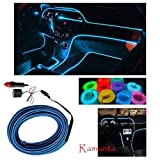 #8: Ramanta™ EL Wire Car Interior Light Ambient Neon Light for Land Rover Range Rover Evoque - 5 Meter Roll (Ice Blue, Pack of 1)