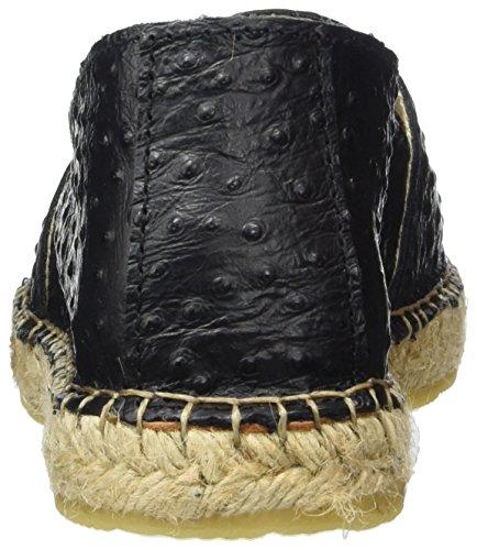 SELECTED FEMME Sfmarley Ostrich, Espadrilles Femme Noir (Black)