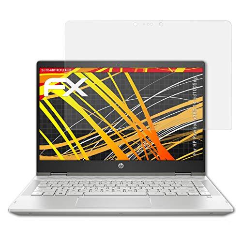 atFolix Schutzfolie kompatibel mit HP Pavilion x360 14-cd1005ng Bildschirmschutzfolie, HD-Entspiegelung FX Folie (2X)