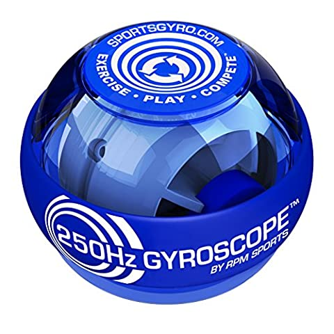 250hz Classic Gyroscopic Hand Grip Exerciser Ball for Strengthening Forearm Muscles or Rehabilitation of a Broken