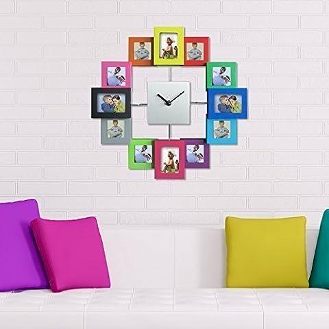Walplus V1-VB94-35R3 - Reloj de pared, diseño marcos de fotos