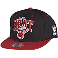 low priced 479fe 3a700 Mitchell   Ness Miami Heat Snapback Cap - Team Arch - Black-Red