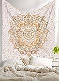 'Golden Ombre Tapestry by Raajsee', biancheria da letto Ombre, arazzi Mandala, Queen, Wall Art hippie multi-colori indiano Mandala da appendere, copriletto bohemien.