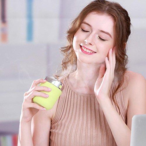 Multi Farbe Tröster (sunnymi LED Lampe Luftbefeuchter Aroma/ Mini Home Auto/ mit 7 Farben/ Luftdiffusor Luftreiniger Zerstäuber/für Babies Yoga Salon Spa Wohn, Schlaf, Bade- oder Kinderzimmer Hotel,Entfernen Sie ungünstige Gerüche und Gerüche,Erhöhung der Luftfeuchtigkeit,Feuchtigkeitsspendende Haut (grün))