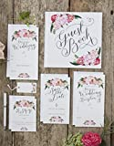 Ginger Ray Hand Illustrated Floral Wedding Invitations X 10 - Boho