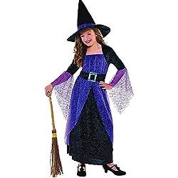Disfraz de bruja para niña, talla 8-9 años.