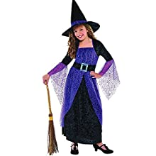 amscan 997723 Pretty Purply Witch Costume - Age 8-10 Years - 1 Pc