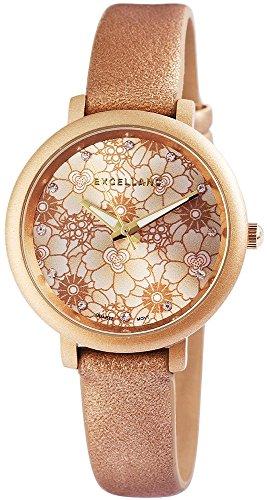 trend-wares-femme-montre-bracelet-marron-or-fleurs-a-quartz-analogique-metal-cuir-tendance-old-fashi