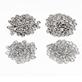 100 x Druckknopf Druckknöpfe Open Ring Farben Silber DIY