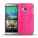 CoolGadget HTC One Mini 2 Hülle, Ultra Thin Brushed Cover Schlank Weich Flexibel Anti-Kratzer Schutzhülle Abdeckung Case, Silikon Cover für One Mini 2 - Pink