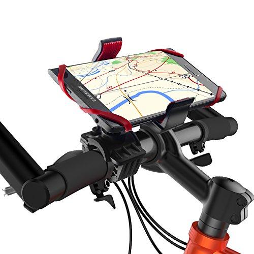 Fahrrad Handyhalterung, Migimi Universal drehbar Handyhalter Fahrrad verstellbar, Fahrrad Handy Halterung mit Silikonband für iPhone 7 / 7 Plus & Samsung Galaxy S7 Edge und Andere