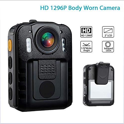 DX.JLY 1296P Polizei Kamera IR Nachtsicht Videorecorder mit Nachtsicht, IR-Cam-Support-Video-Audio-Aufnahme Sensor 2-Zoll-Display - Polizei-videorecorder