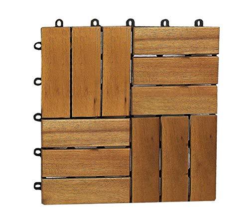 SAM® Terrassenfliese 02 aus Akazien-Holz, Einzelfliese, FSC® 100{77cf69fdd6c80d01907d1cd9d32201c74382a13dfcf8f50be1f14e6424ae2820} zertifiziert, Garten-Fliese, Klick-Fliesen für Garten, Terrasse, Balkon