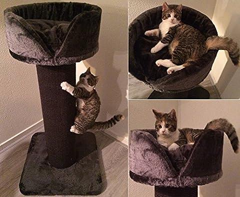 Kratzbaum Cat Crown XL Anthrazit mit starkes Sisalteppich. Super Amazon Promo. Sisalstämme 20cm Ø mit Sisalteppich für alle Katzen. Europäische Qualitätsproduktion