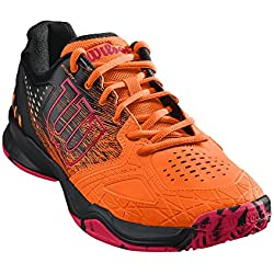 Wilson KAOS COMP, Zapatillas de tenis hombre, juego ofensivo, multiterreno, tejido/sintético, naranja/negro(Shocking Orange/Black/Neon Red), talla:42 2/3