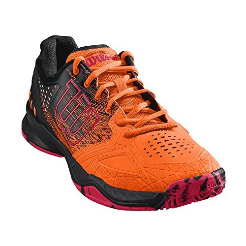 Wilson Kaos Comp, Zapatillas de Tenis Hombre, Juego Ofensivo, multiterreno, Tejido/Sintético, Naranja/Negro(Shocking Orange/Black/Neon Red), Talla:44 2/3