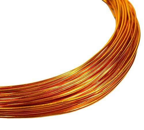 12m ALUMINIUMDRAHT 1mm GOLD KUPFER SCHMUCKDRAHT BASTELN BIEGEDRAHT Aludraht METERWARE BASTELDRAHT...