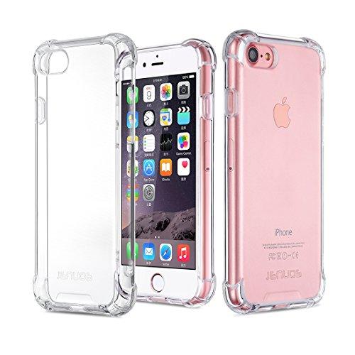 Custodia iphone 7 / iphone 8, cover jenuos antiurto paraurti silicone trasparente cover tpu per iphone 7 and iphone 8 4.7