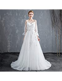 LYJFSZ-7 Vestido De Novia,Vestido De Novia Elegante Y Sin Respaldo para Dama