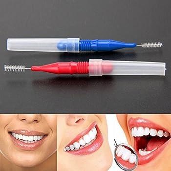 Interdental-bürsten Zahnseide Im Xxl-pack – 50 Stück In 2 Größen – Mit Verschluss Für Unterwegs – Perfekt Zur Zahnpflege & Zahnreinigung 2