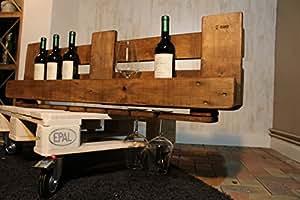 Riando - Upcycling Weinregal aus Europaletten - Bio, Vegan hergestellt - Handmade aus Deutschland (Braun)