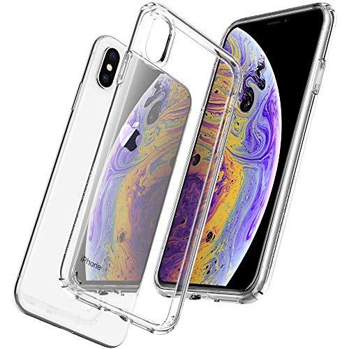 Cover iphone x, cover iphone xs, apple silicone custudia trasparente antiurto ultra slim tpu indistruttibile ultrasottile gomma bumper sottile protettiva antigraffi morbida