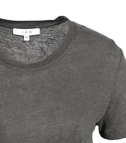 IRO Damen Shirt Luciana Aus Leinen in Khaki-Grün KAK01 khaki
