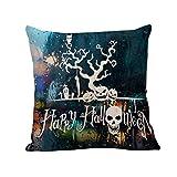 SEWORLD Happy Halloween Kissenbezüge Leinen Sofa Kissenbezug Home Decor L