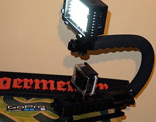 Henkelgriff Light Stativ für Rollei Bullet Sjcam + Dazzne P2 professionelle Kamera Aufnahmen 64 Fach LED Schwebestativ