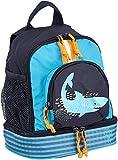 YAZI - Zainetto da giardino per bambini, con cintura sul petto Blu - Shark Ocean. m
