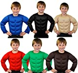 CHILDS FAKE MUSCLE CHEST - PERFECT HALLOWEEN COSTUME ACCESSORY OR FOR SUPERHERO FANCYDRESS - BEIGE/SKIN COLOUR - XLARGE SIZE