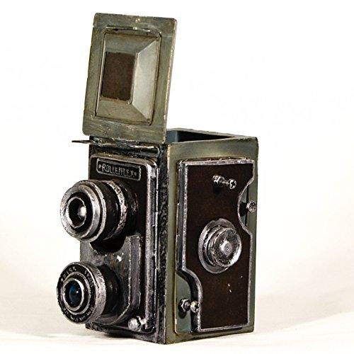 UniqueGift Retro Replica Metall Deko Collectible Rolleiflex Kamera Modell und Speicherung Box–Fotograf Geschenk–Industrie Decor, Klassische Vintage Kamera Modell, Shabby Kamera Decor
