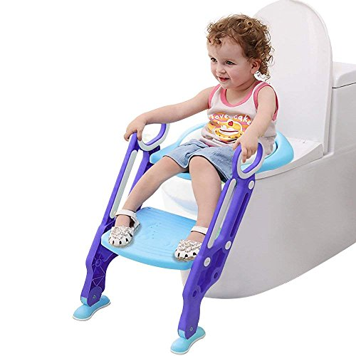 Toiletten-Trainer Kinder/Toilettentrainer, Kinder Toilettensitz Trainer für Kinder von 1-7 Jahren