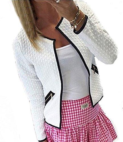 Legros Damen Blazer Tailliert Kurz Elegante Langarm Slim Business Mantel Jacke Oberteil , Gr.-M/EU(36) (Elegant-blazer)