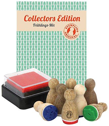 Stemplino 4260338190705 - Mini timbri da collezione, tema: primavera