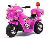 Toyas Elektro Kinder Motorrad Kinderfahrzeug Polizei Elektromotorrad LQ998 Pink