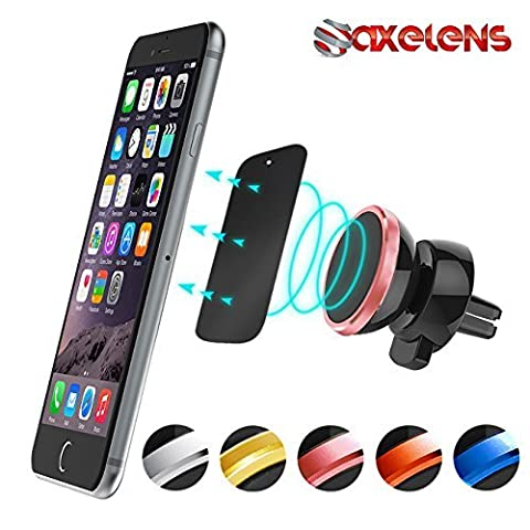 BLACK/ANTIQUE PINK - MAGNETIC AIR VENT SUPPORT FOR SMARTPHONES UNIVERSAL