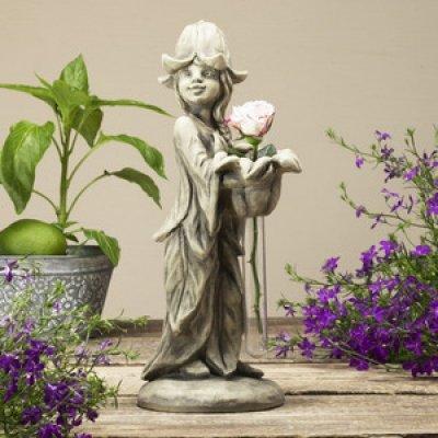 Vase Figurine Campanule Maritta, le béton Fonte 36 cm zb2425100
