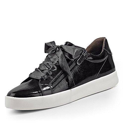 MARCO TOZZI 23775-31 280 Damen Sneaker Lederimitat Herausnehmbare Feel-ME-Sohle, Groesse 37, anthrazit