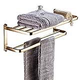 Badezimmerregal Kompaktes Regal Rechteckiges Lagerregal Auf Der Toilette Badezimmer Trennwand (Color : Gold)