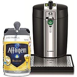 Krups VB700800 Tireuse à Bière Pression BeerTender Noir Machine à bière Pompe Fût 5L + Affligem Blonde