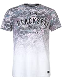 Firetrap Mens Blackseal Foilage T Shirt Crew Neck Regular