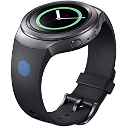 Ularma Luxury Silicone Watch Band Strap For Samsung Galaxy Gear S2 SM-R720 Black