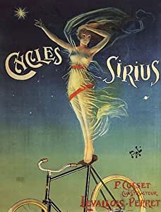 CYCLES SIRIUS BICYCLE WOMAN LEVALLOIS PERRET FRANCE LARGE VINTAGE POSTER REPRO by WONDERFULITEMS