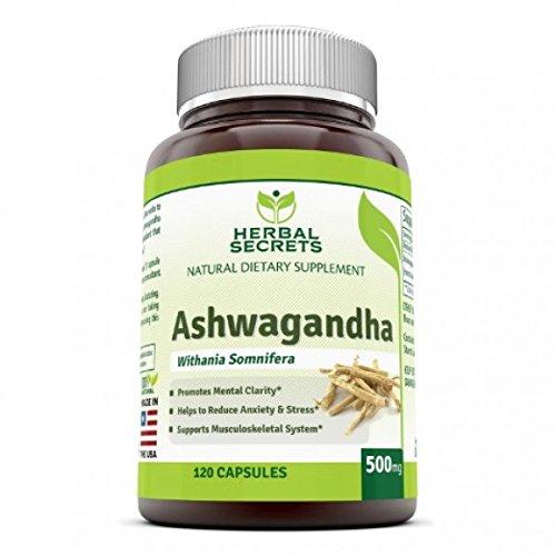Herbal Secrets Ashwagandha - 500 Mg, 120 Caps