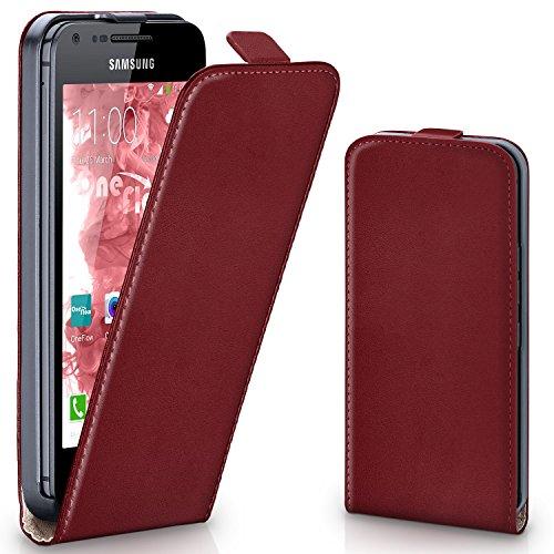 OneFlow PREMIUM - Flip-Case - per Samsung Galaxy S2 / S2 Plus - MAROON-RED